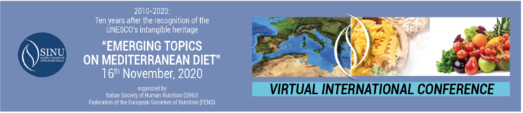 "Virtual Conference Emerging topics on mediterranean diet"" – 16 novembre 2020"