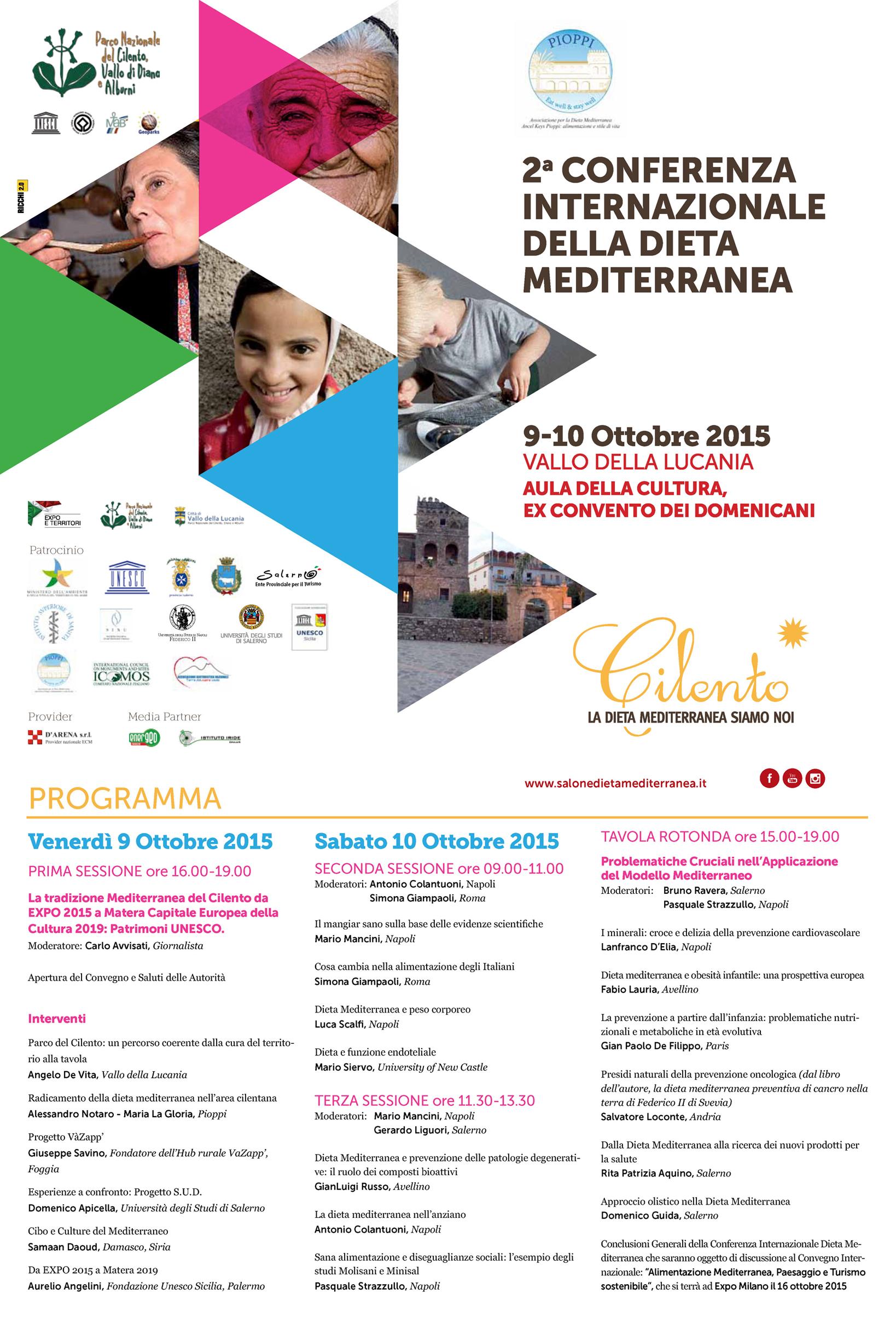 Vallo della Lucania: ACN Campania partecipa alla Conferenza Internazionale della Dieta Mediterranea